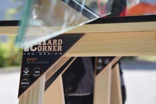 Hard Corner Protection du travail du verre